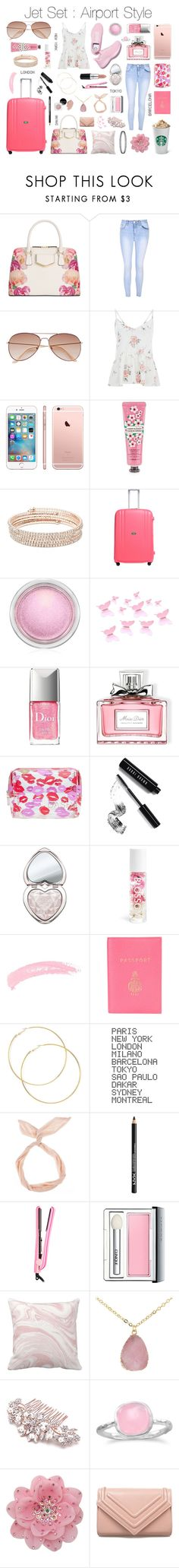 """""""Jet Set : Airport Style"""" by xorozetaxo ❤ liked on Polyvore featuring Calvin Klein, Glamorous, H&M, The Face Shop, Anne Klein, Lojel, MAC Cosmetics, Christian Dior, Bobbi Brown Cosmetics and Too Faced Cosmetics"""
