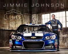 Jimmie Johnson with his 2013 Lowe's Cheverolet