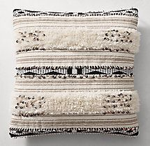 Moroccan Wedding Banded Pillow Cover - Square