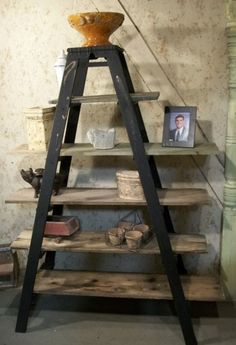 Utilizing a shelf of staircases can bring distinct and different means. Use the ladder shelf in the typical method, then discover your very own ideas, or have a look and also see the complying with suggestions.  #LadderShelf #MiniLadderShelf