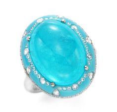 Rare & Vintage | A Paraiba Tourmaline, Turquoise and Diamond Ring, by Chopard