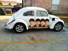VW Beatles The Magical Mystery Tour, Volkswagen, Beatles Love, Car Camper, Vw Beetles, Beetle Bug, The Fab Four, Rear Wheel Drive, Classic Cars
