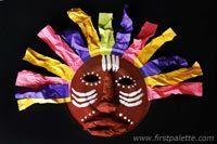 Masque africain à partir d'une assiette de carton