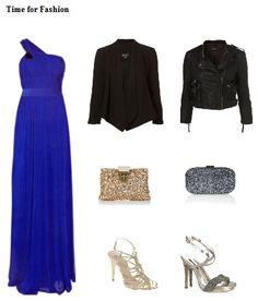 chaqueta vestido largo azul klein
