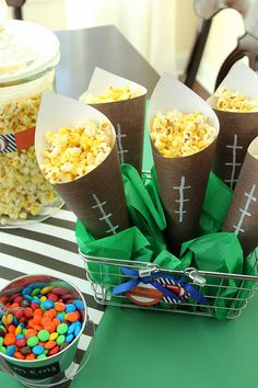 Football Popcorn Bar Party