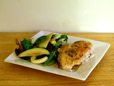 Does Not Cook Well With Others: Cider-Glazed Chicken with Apple Fennel Salad