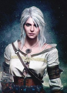 Her look in my opinion is one of the most badass female video game character The Witcher Game, The Witcher Books, Witcher 3 Wild Hunt, The Witcher Geralt, Witcher Art, Fantasy Inspiration, Character Inspiration, Character Art, 3d Fantasy