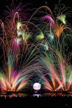 Long exposure of fireworks. -JPH