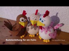Bastelanleitung für ein Huhn - YouTube