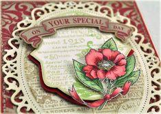 Beautiful JustRite Card.  Nice dies.