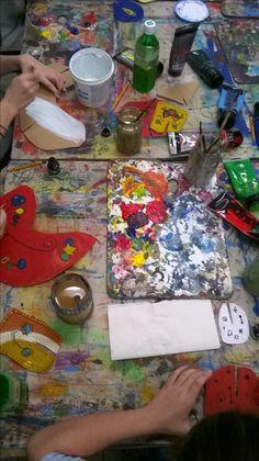 Miro,malarstwo dzieci w pracowni