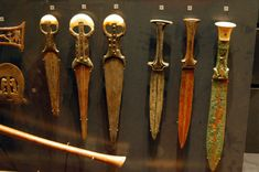 Ancient Egyptian weapons from Louvre museum