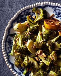Roasted Broccoli with Lemon and Pine Nuts Recipe