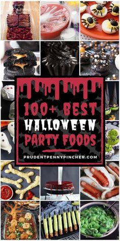 100 Best Halloween Party Foods Impress your halloween party guests with these spooktacular halloween food ideas! There are halloween recipes for appetizers, main entrees, desserts, drinks party food appetizers recipe Halloween Desserts, Creepy Halloween Food, Halloween Party Appetizers, Hallowen Food, Halloween Food For Party, Halloween Birthday, Holidays Halloween, Halloween Kids, Halloween Treats