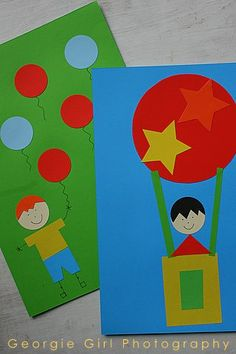 Love and Lollipops: Shapes Picture: A Rainy day Art Activity