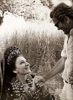"""Pier Paolo Pasolini e Maria Callas sul set - """"Medea"""", 1969"""