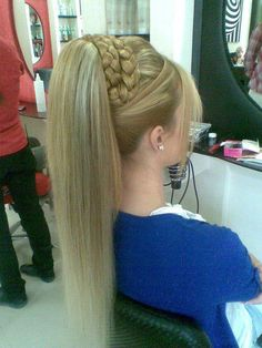 Prom and casual hairstyles for women ( genie hair ) Pigtail Hairstyles, Casual Hairstyles, Wedding Hairstyles For Long Hair, Pretty Hairstyles, Straight Hairstyles, Girl Hairstyles, Braided Hairstyles, Amazing Hairstyles, Style Hairstyle