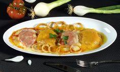 Receta de Huevos con cebolla y tomate