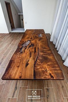 Modern wooden dining table made of solid wood Ash with a live edge. Table in Rustic style for 8 person. Cracks and knots in the wood are filled with transparent epoxy resin. Strong, original woodeb legs are also made of slabs of Ash. Wood is covered with natural oil-wax. Manual #WoodworkingIdeas