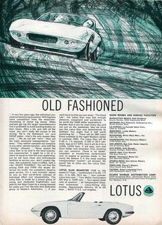 1965 Lotus Elan Roadster Advertisement Road & Track March 1965 | Flickr - Photo Sharing!