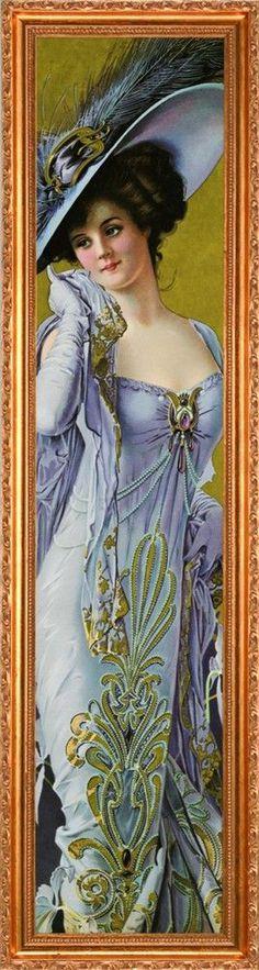 "victorian yard long prints | Pompeian Beauty"" by Pannet, yard long Victorian print"