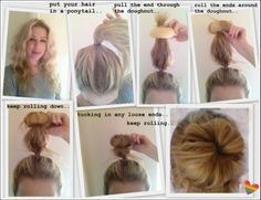 Hair donut how-to, how to use a hair donut, EVERY GIRL SHOULD OWN A HAIR DOUGHNUT