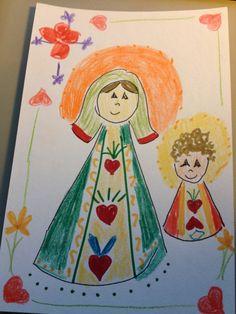 Mother Mary with Jesus Christianity Christmas by LilyMoonsigns, $4.00-http://www.etsy.com/treasury/NTQ1NjEwMHwyNzIyMTg5MTM1/shiny-happy-favorites