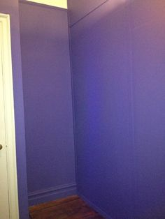 Phase #1: Paint - Deep Purple (Alcove) - This alcove will house the handmade closed-door cabinetry you see in Drawing #5