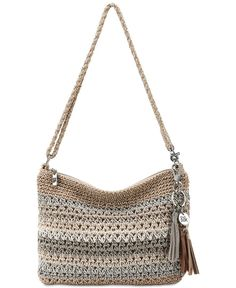 Shop The Sak Casual Classics 3 in 1 Demi Crossbody Bag - Sand Stripe at Boscov's online! Find a huge selection of Minibags for the lowest prices today! Crochet Handbags, Crochet Purses, Crochet Clutch, Crochet Bags, Small Sized Bags, Bead Crochet, Chanel Handbags, Black Handbags, Mens Gift Sets