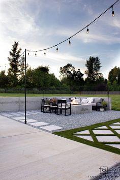 DIY Backyard String Lights - Taryn Whiteaker Backyard String Lights, Concrete Posts, Light Project, Twinkle Lights, Cool Diy Projects, Hanging Lights, Types Of Craft, Patio, Sidewalk