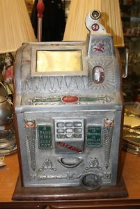 vintage mills owl slot machine | Mills Double Payout 5 Cent Nickel Owl Liberty Bell 1776 Slot Machine ...