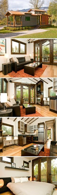 My perfect tiny house This is the one for me! The Caboose: a 400 sq ft park model home