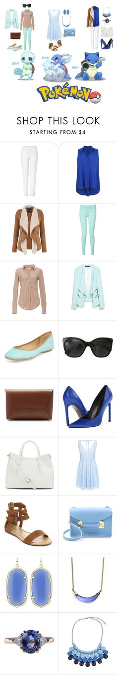 """Get The Look- Squirtle Evoultions (Pokemon Fashion)"" by xmichi-chanx ❤ liked on Polyvore featuring ESCADA, maurices, Tommy Hilfiger, Bobi, Ash, Chanel, J.Crew, Stuart Weitzman, Vince Camuto and Sophie Hulme"