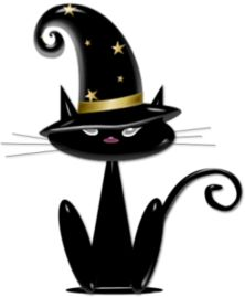 cat the witch Chat Halloween, Halloween Friday The 13th, Halloween Rocks, Halloween Clipart, Halloween Drawings, Halloween Pictures, Halloween Cards, Holidays Halloween, Cat Clipart