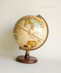 1689 antique world globe map drawstring bag heavy cotton canvas vintage repogle world globe on wood stand 9 diameter made in usa free uk gumiabroncs Image collections