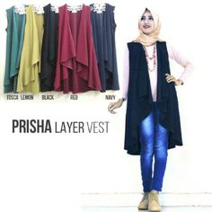 Busana Wanita Prisha Layer Vest Online - http://www.butikjingga.com/busana-wanita-prisha-layer-vest