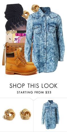 """""""Ms.Blue Jean"""" by dajvuuloaf ❤ liked on Polyvore featuring Noisy May and Timberland"""