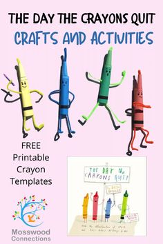 The Day the Crayons Quit Crafts and Activities - explore feelings and conflict management #mosswoodconnections #picturebooks #crafts #literacy #socialemotional #emotionalintelligence Fun Activities For Kids, Reading Activities, Speech Activities, Conflict Management, Education And Literacy, Thinking Skills, Learn To Read, Social Skills, Crayons