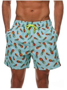 WEVIAS Mens Short Swim Trunks Quick Dry Breathable Sports Beach Surfing Running Swimming Board Shorts Mesh Lining Sport Shorts, Swim Shorts, Men's Shorts, Casual Skirt Outfits, Casual Shorts, Mens Short Swim Trunks, Mens Printed Shorts, Hawaiian Shorts, Boxer