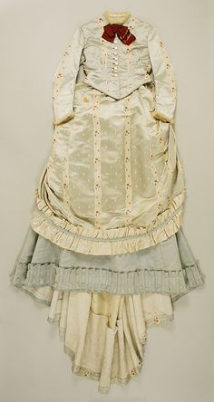 Silk ensemble with day bodice (front), by Dupret, French, ca. 1867.