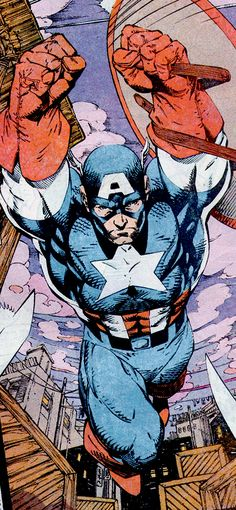 Captain America (Steve Rogers) by Jim Lee Comic Book Artists, Comic Book Characters, Comic Book Heroes, Marvel Characters, Comic Books Art, Comic Art, Marvel Comics, Bd Comics, Marvel Heroes