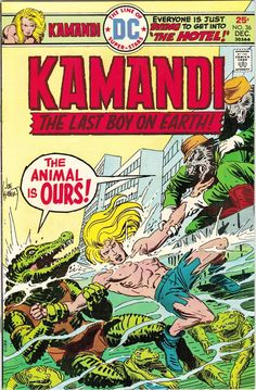 Kamandi #36 (1975). Cover art: Joe Kubert.  The Best UNDERWATER Comic Book Covers -  A collection of some of the top underwater comic book covers ever created.