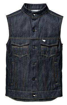 The denim vest is our motorcycle staple. Constructed from Saint's motorcycle denim, we blend cotton with unbreakable Dyneema® - result - the Saint vest is 8 times tougher than a standard denim vest, demonstrating significant burst and abrasion resilience... with triple stitched and bound seams, enamel engraved buttons, a flawless construction and contemporary fit - these new saint vests will be living life with you for a long long time to come.