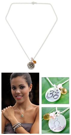 Necklaces and Pendants 98511: Silver Necklace Citrine Sterling 925 Handmade Yoga Meditation Novica Thailand -> BUY IT NOW ONLY: $54.99 on eBay!