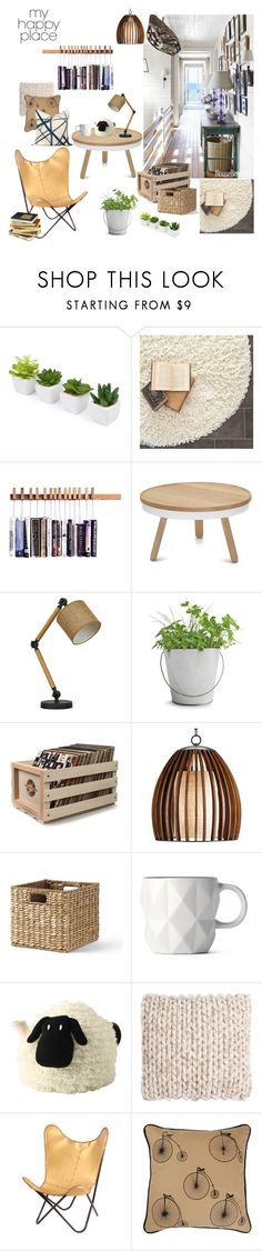 """""""My Happy Place"""" by taci42 ❤ liked on Polyvore featuring interior, interiors, interior design, home, home decor, interior decorating, Safavieh, Potting Shed Creations, Crosley Radio & Furniture and Lands' End"""