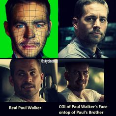 Furious 7 Created A Digital Paul Walker To Complete The Movie, The Fake Is Chillingly Real Paul Walker has been created in cyberspace and the result is scary real Paul Walker Cgi, Paul Walker Family, Cody Walker, Fast And Furious, The Furious, Jessy James, Furious Movie, Celebrity Photos, Actors & Actresses