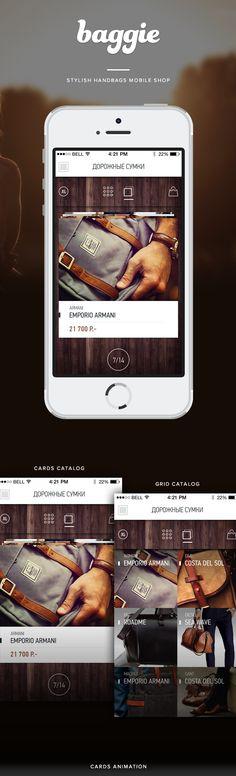 Baggie, mobile shop on App Design Served