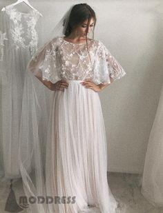 Lace Wedding Dresses Backless Evening Dresses A-Line Bridal Dresses,HS661 #fashion#promdress#eveningdress#promgowns#cocktaildress