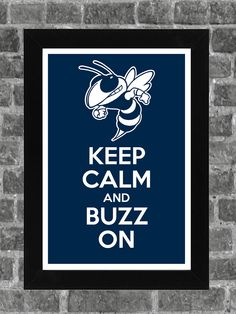 Keep Calm Georgia Tech Yellow Jackets NCAA Print Art 11x17. $14.99, via Etsy.