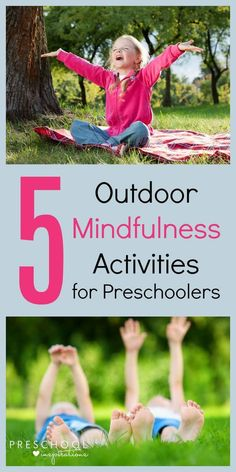 Do your kids have a hard time adjusting after school? Try these 5 Outdoor Mindfulness Activities for Preschoolers - fun and relaxing after-school activities for kids. Forest School Activities, Nature Activities, Outdoor Activities For Kids, Art Therapy Activities, Outdoor Learning, Toddler Activities, Learning Activities, Nature Based Preschool, Eyfs Activities